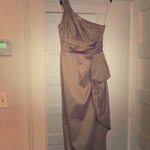 Elegant taupe gown
